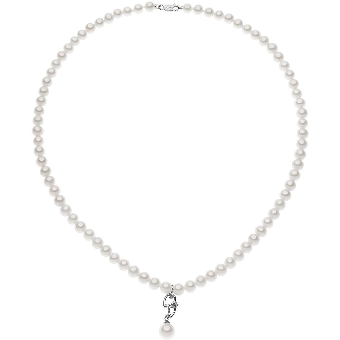 collier femme bijoux Comete Perle FWQ 224
