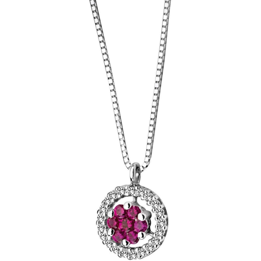 collier femme bijoux Comete Pietre preziose colorate GLB 623