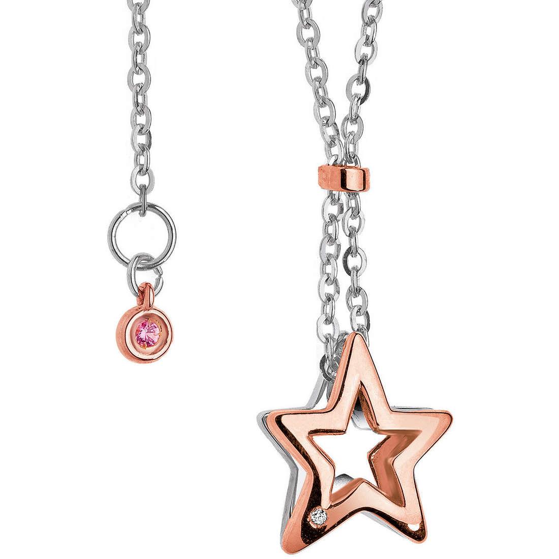 collier femme bijoux Comete Pietre preziose colorate GLB 762