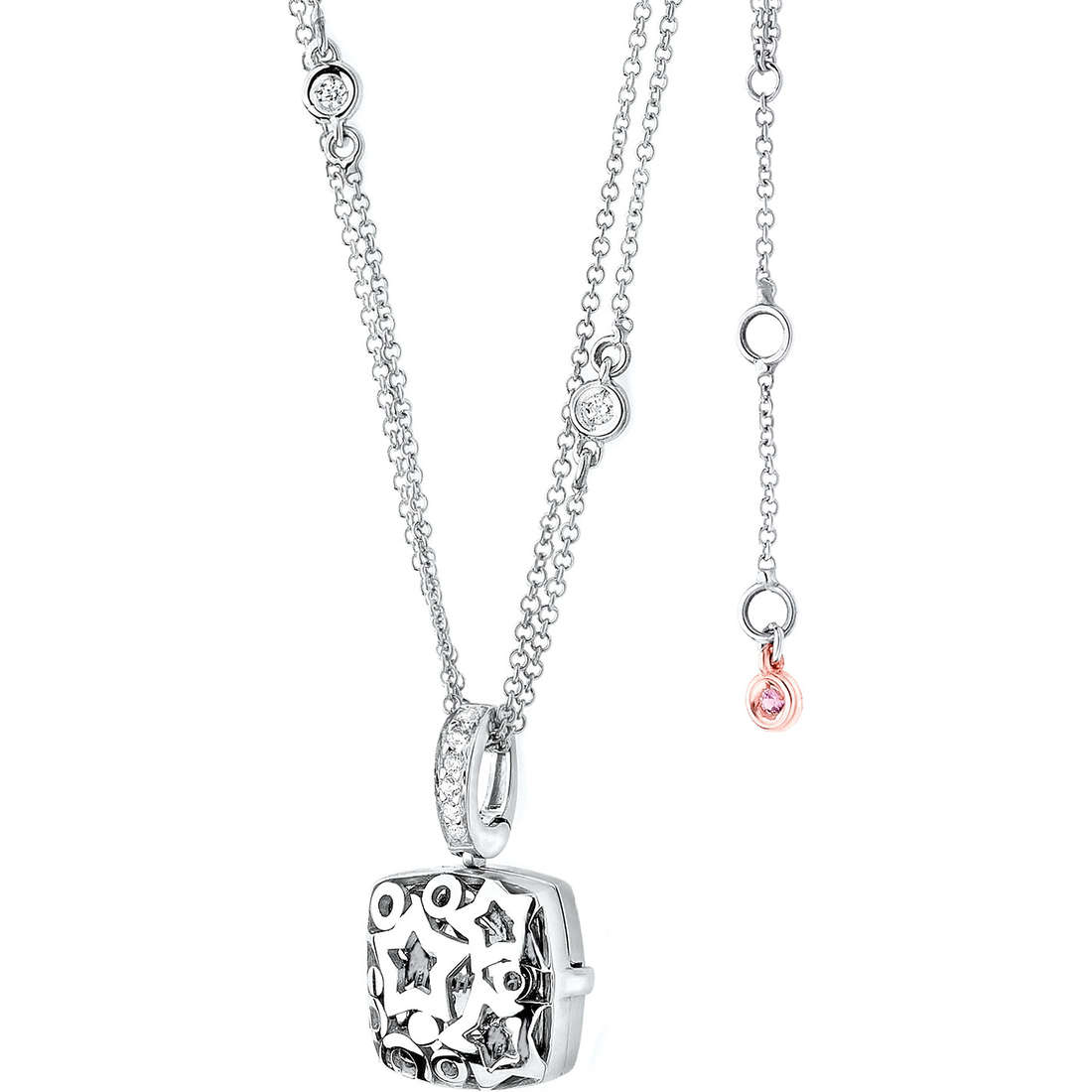 collier femme bijoux Comete Pietre preziose colorate GLB 790