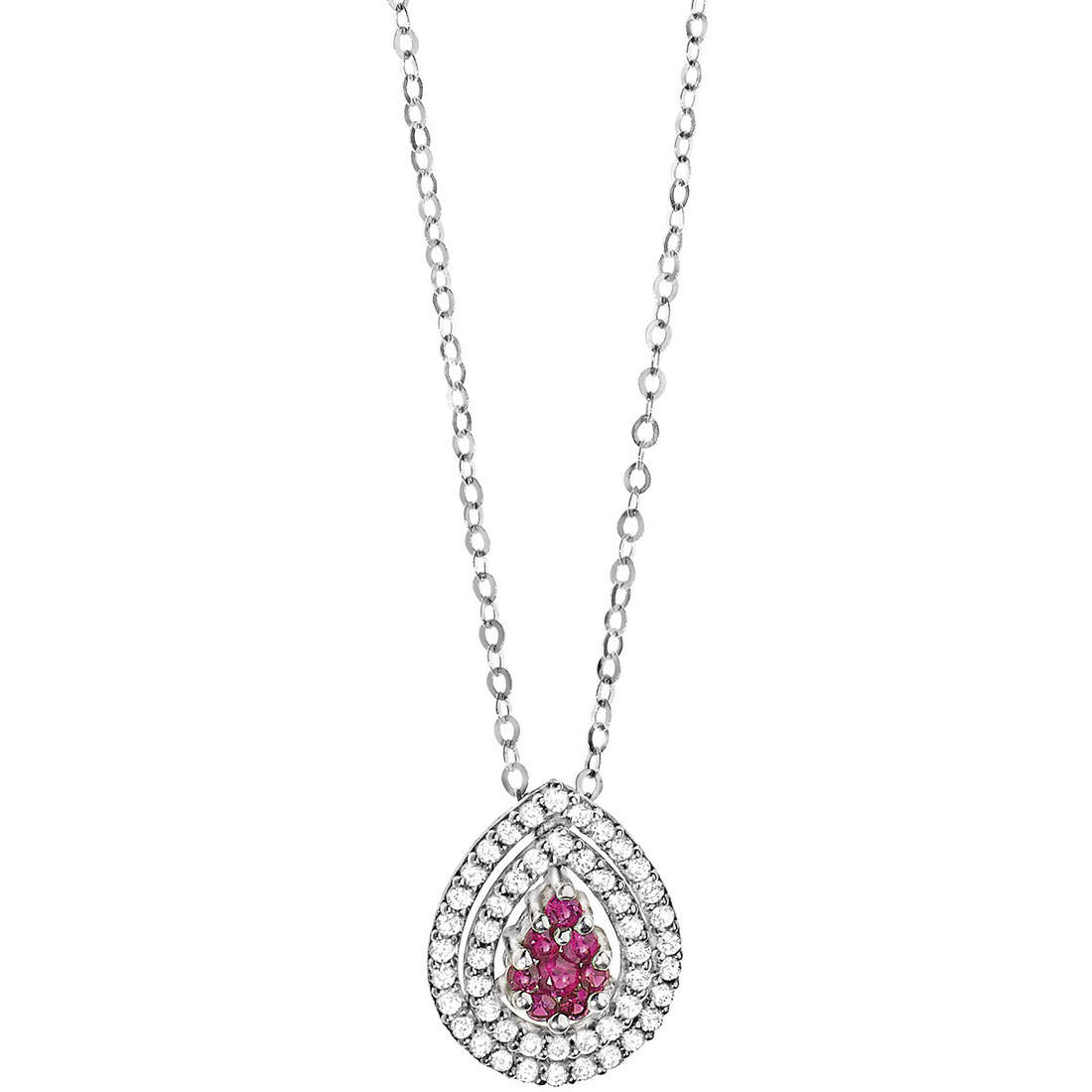 collier femme bijoux Comete Pietre preziose colorate GLB 952