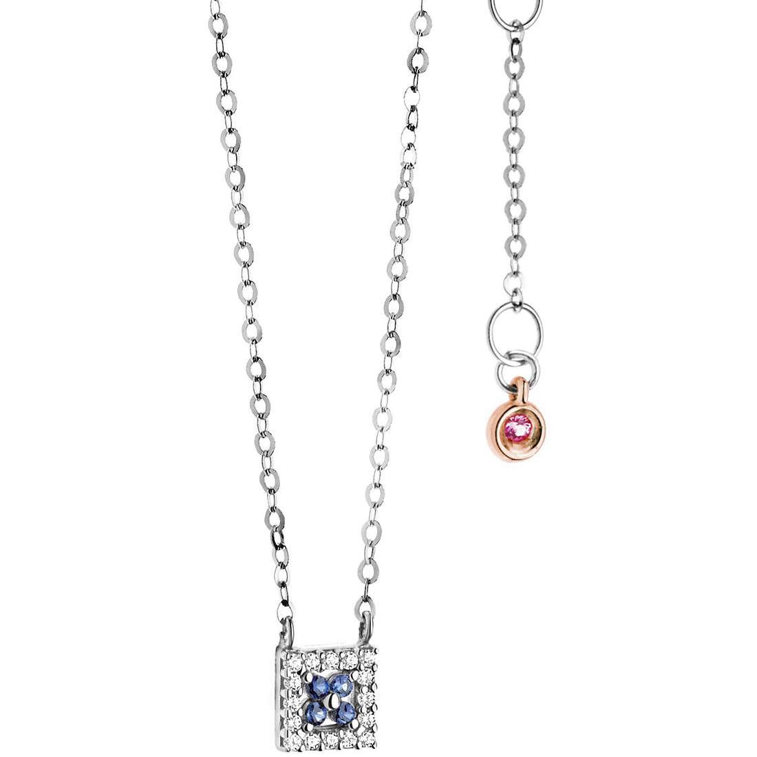 collier femme bijoux Comete Pietre preziose colorate GLB 961
