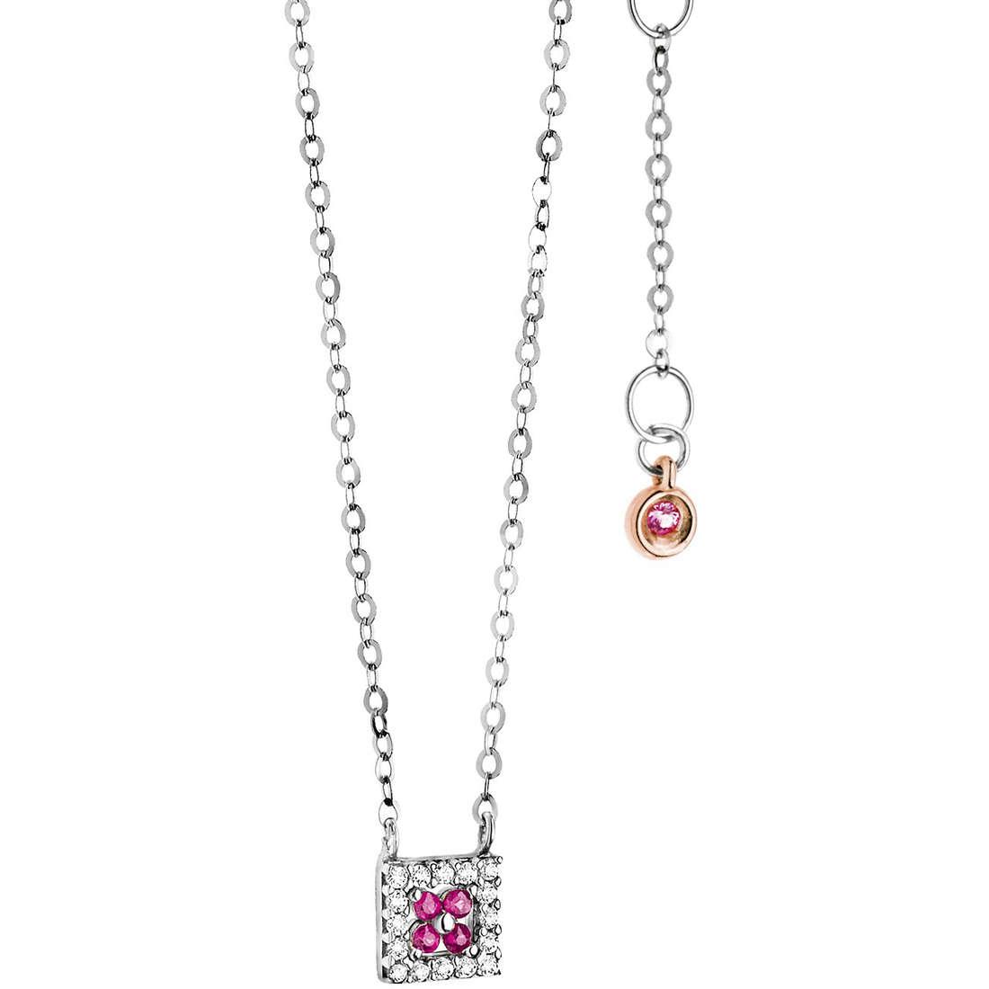 collier femme bijoux Comete Pietre preziose colorate GLB 962