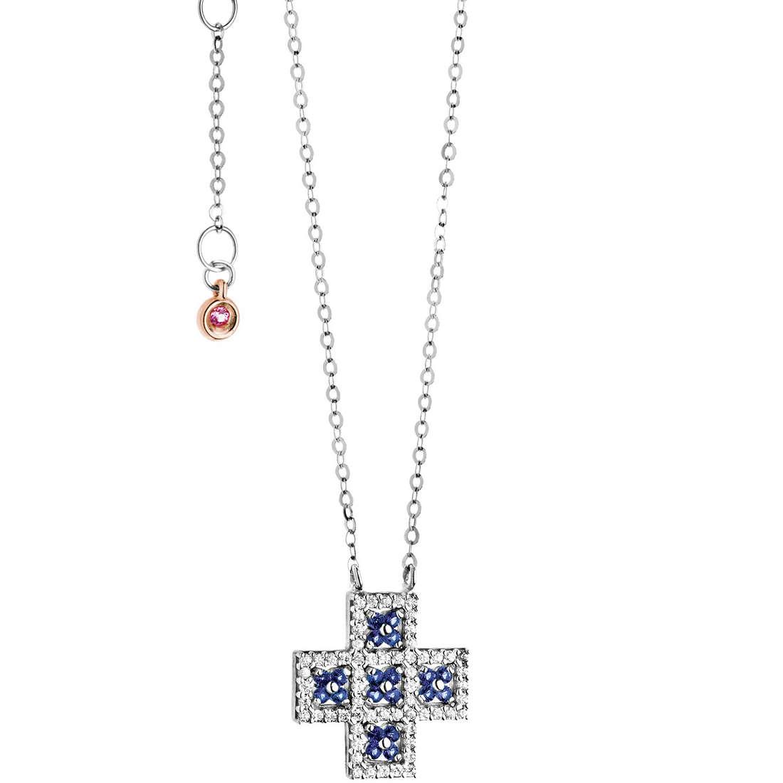collier femme bijoux Comete Pietre preziose colorate GLB 965