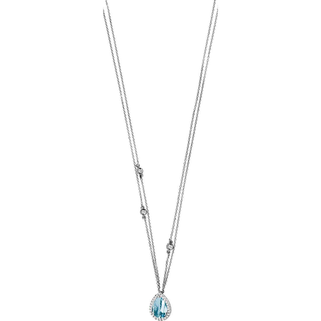 collier femme bijoux Comete Pietre preziose colorate GLQ 217