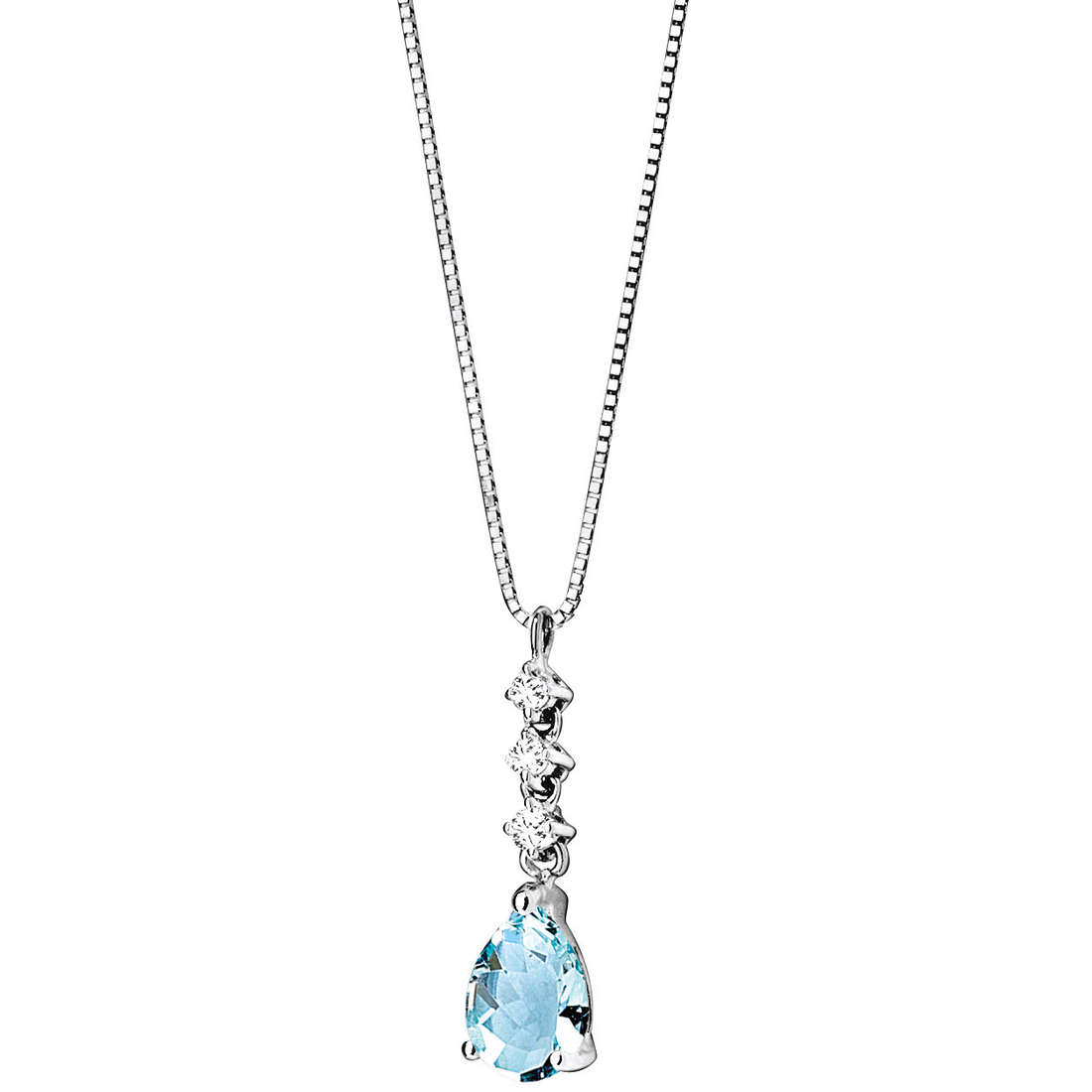 collier femme bijoux Comete Pietre preziose colorate GLQ 221