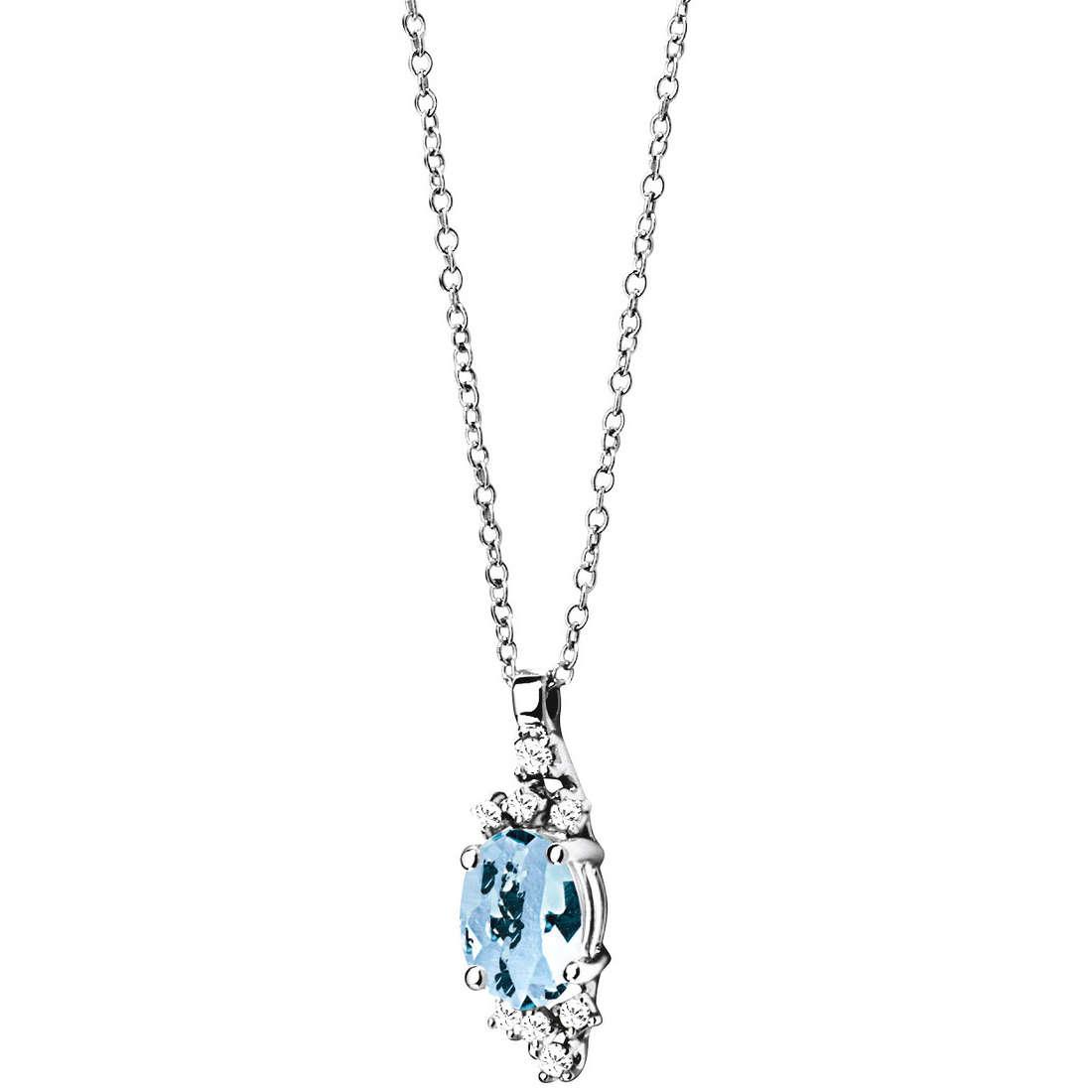 collier femme bijoux Comete Pietre preziose colorate GLQ 223