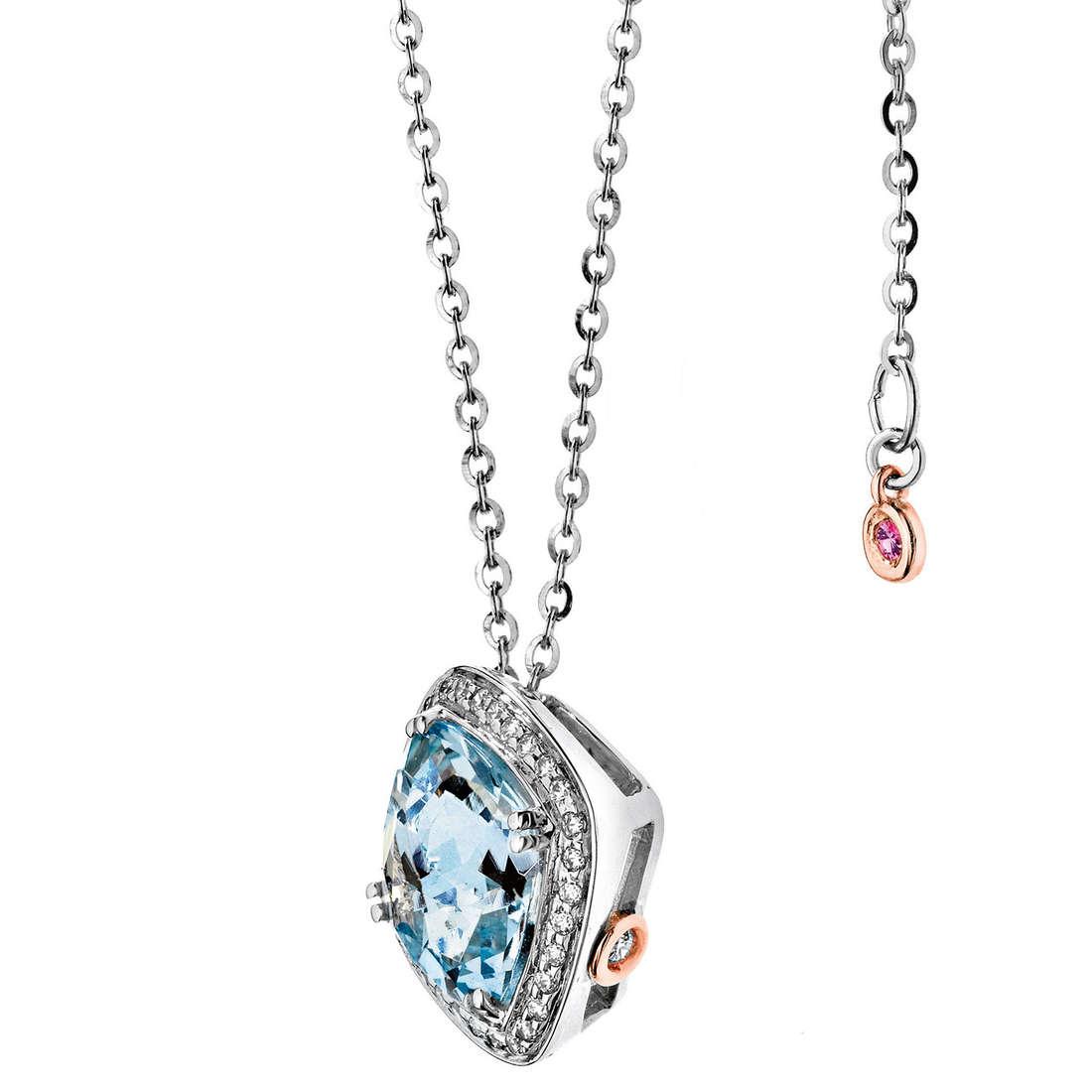 collier femme bijoux Comete Pietre preziose colorate GLQ 232