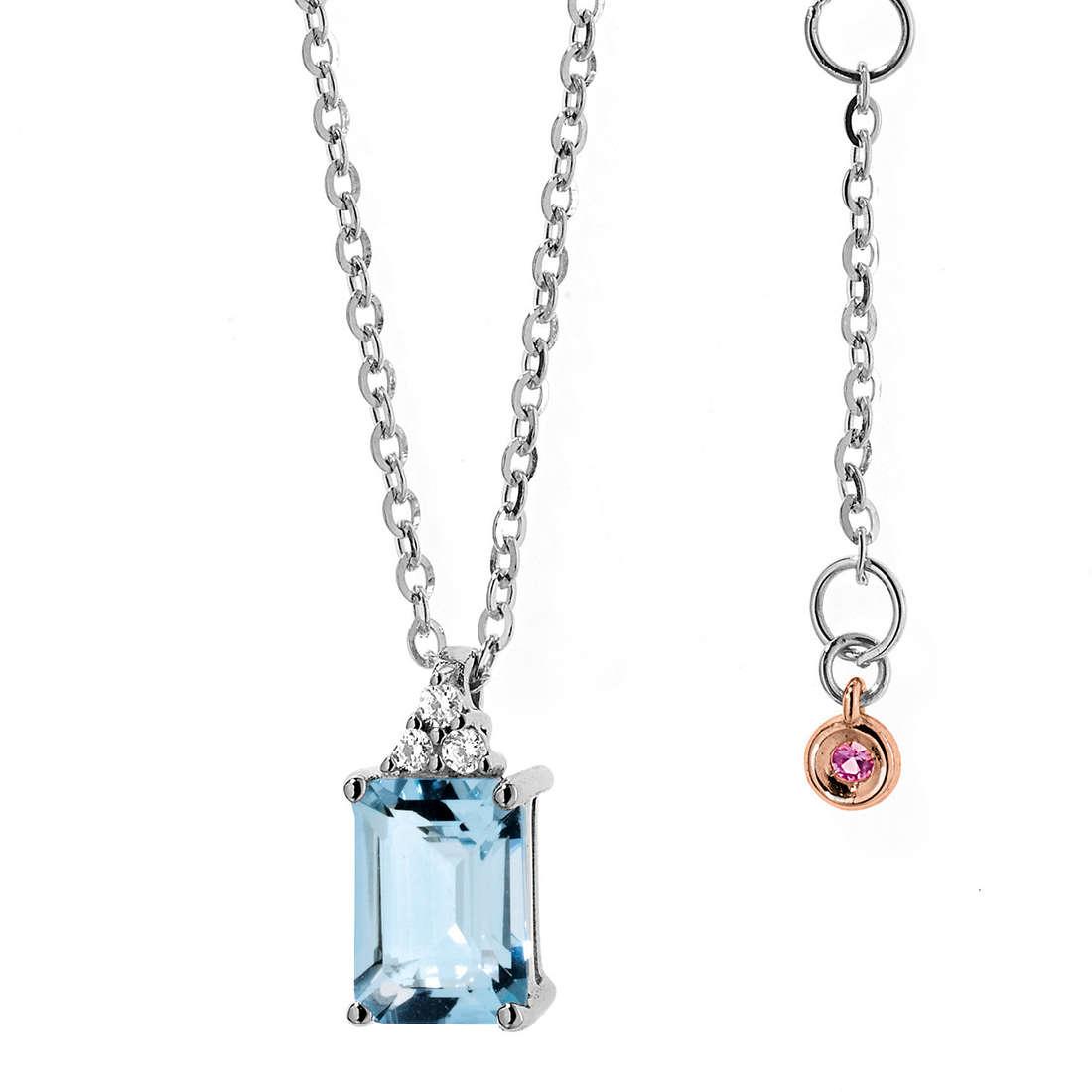 collier femme bijoux Comete Pietre preziose colorate GLQ 234