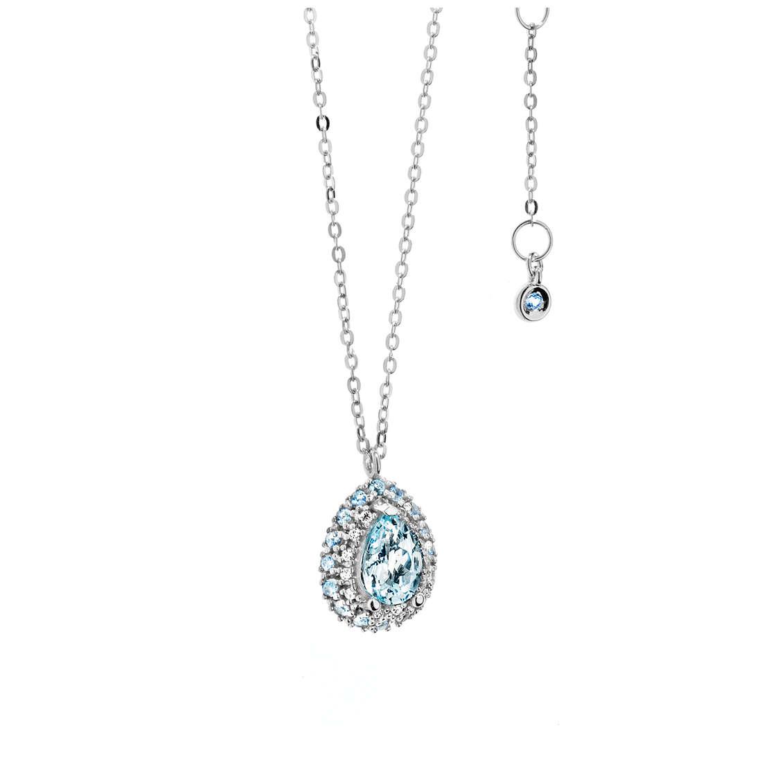 collier femme bijoux Comete Pietre preziose colorate GLQ 240