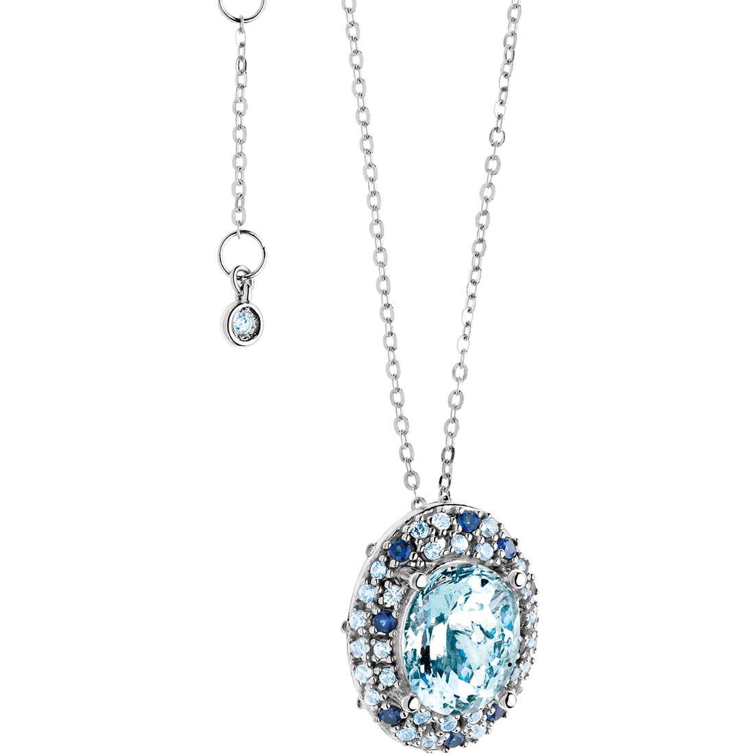 collier femme bijoux Comete Pietre preziose colorate GLQ 241