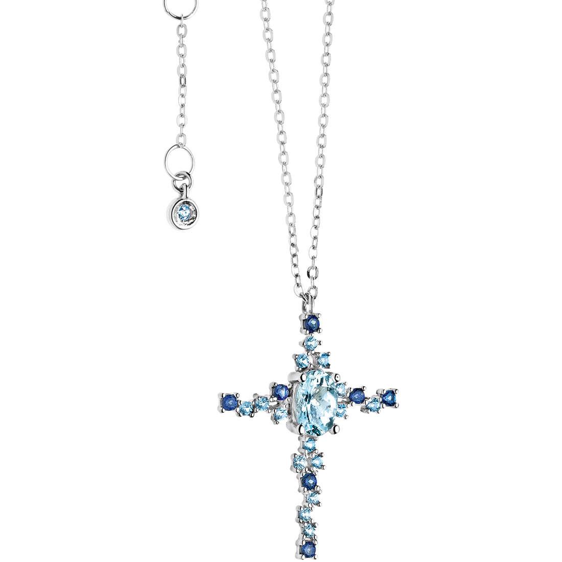 collier femme bijoux Comete Pietre preziose colorate GLQ 242