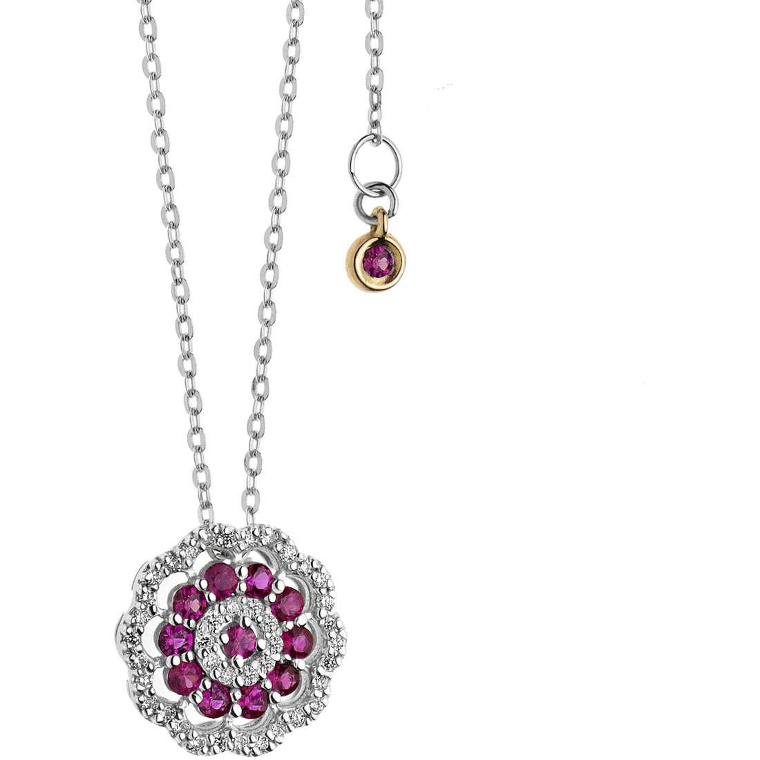 collier femme bijoux Comete Rose di diamanti GLB 1107