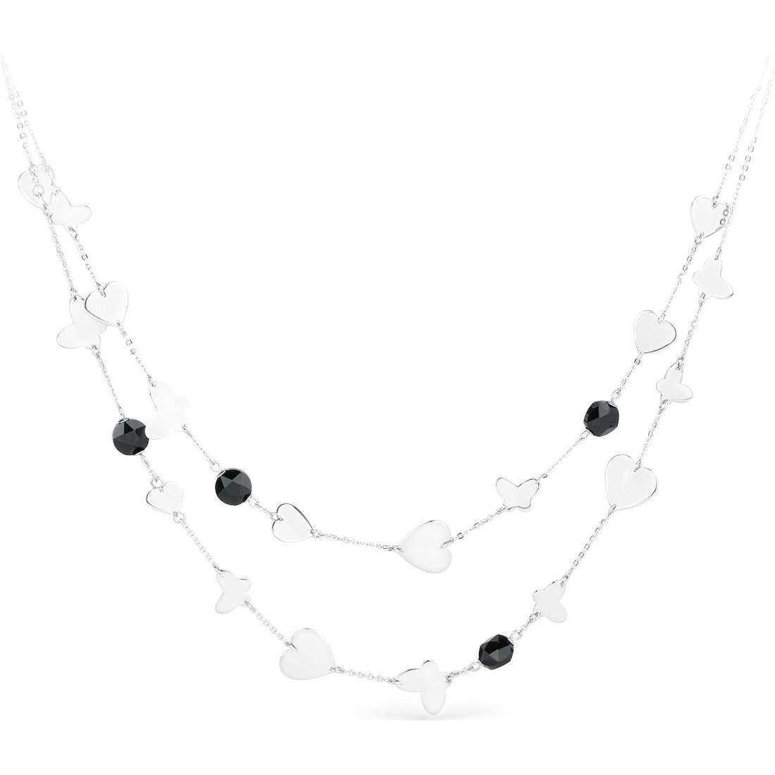 collier femme bijoux Sagapò Noir SNR01