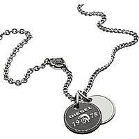 collier homme bijoux Diesel Double Pendant DX1091040