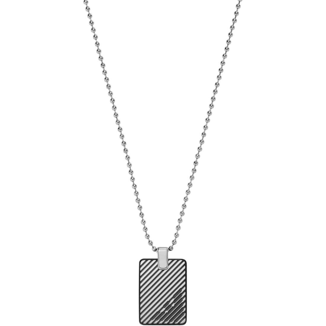 collier homme bijoux Emporio Armani Signature EGS2180060