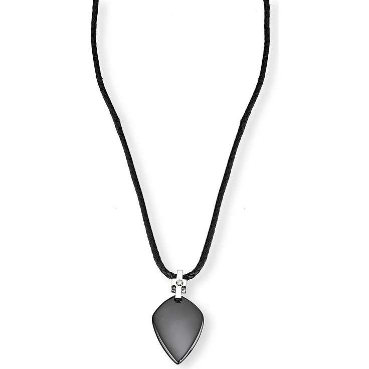 collier homme bijoux Morellato Noir SAA02