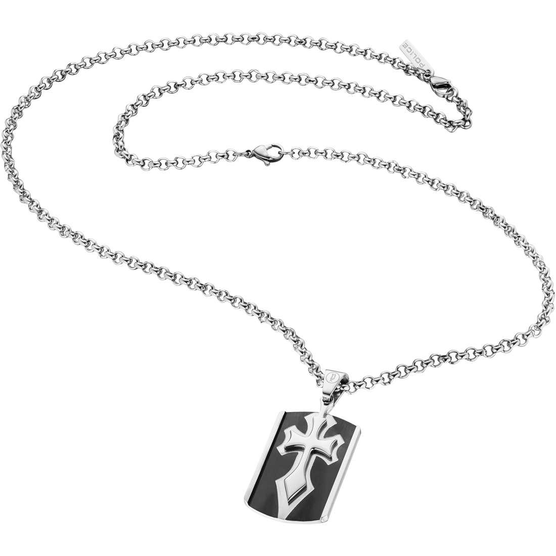 collier homme bijoux Police S14BG06C