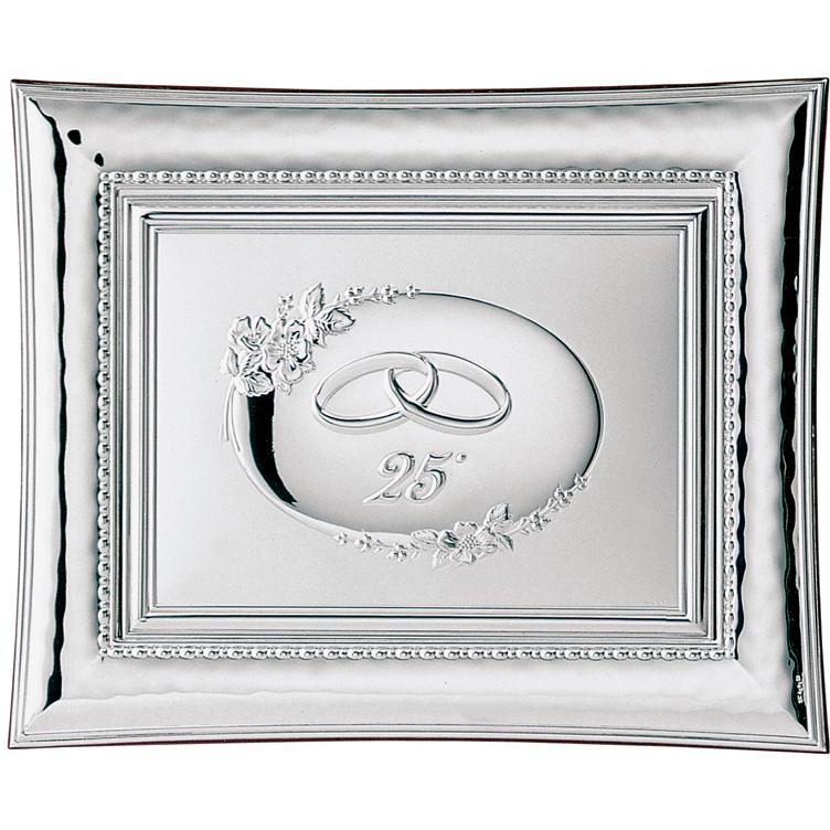 Cornici Valenti, cornice con targa 25° retro 554 4L