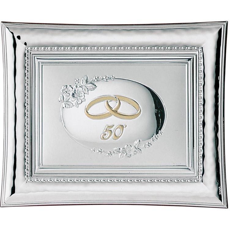 Cornici Valenti, cornice con targa 50° retro 555 4L