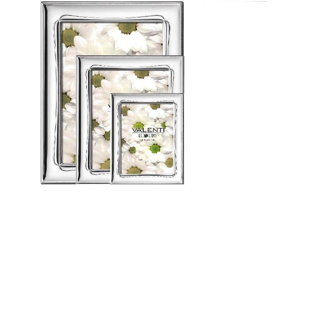 Cornici Valenti, set 3 pz , Laminato argento 51010 SET