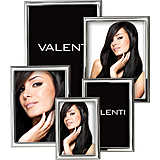 Cornici Valenti, set 5 pz, Laminato argento 12030 SET