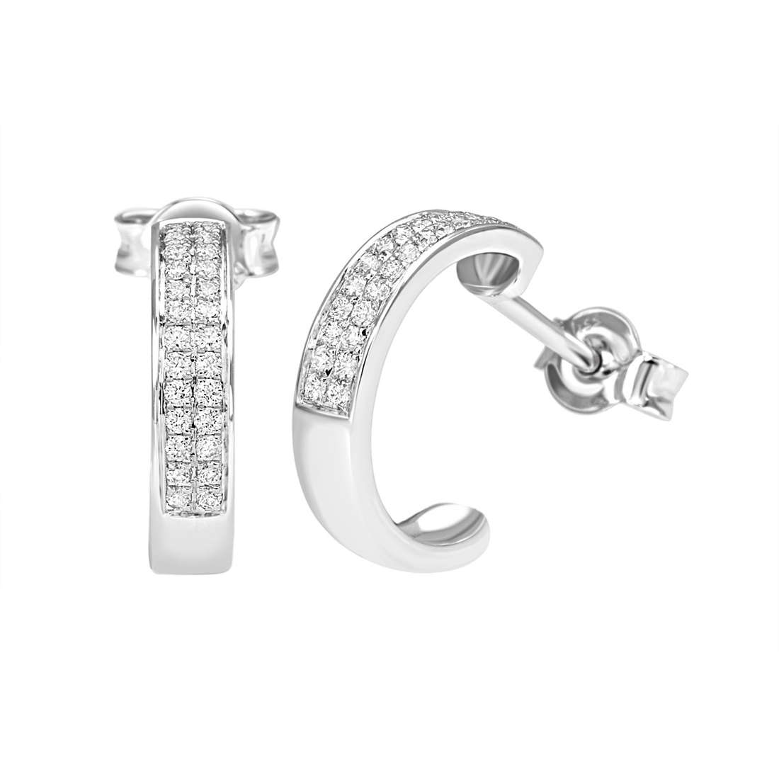 ear-rings woman jewellery Bliss Classic Pave' 20064431