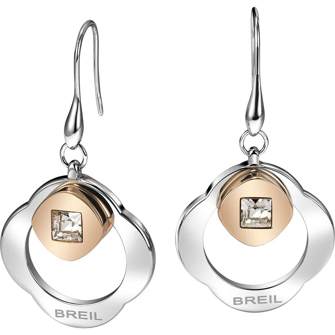 ear-rings woman jewellery Breil Crossing Love TJ1580