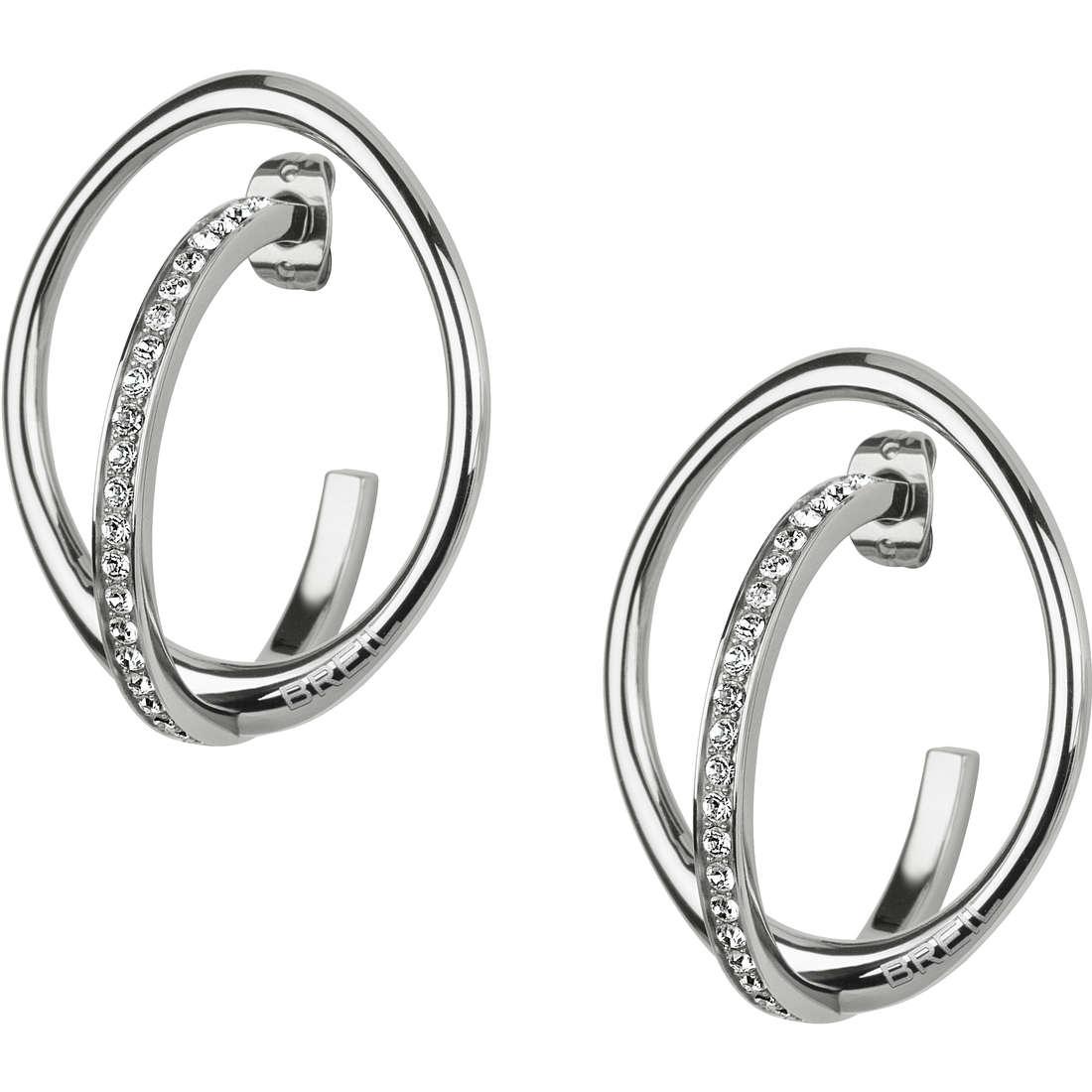 ear-rings woman jewellery Breil Mezzanotte TJ1900