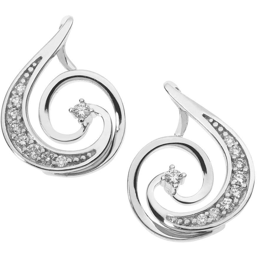 ear-rings woman jewellery Comete Fantasie di diamanti ORB 846