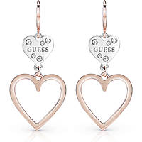 ear-rings woman jewellery Guess Heart In Heart UBE84002