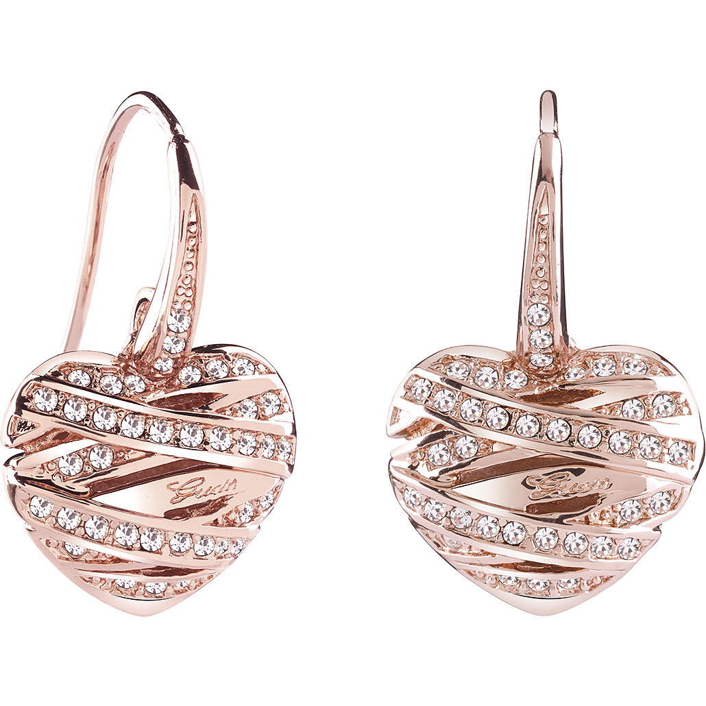ear-rings woman jewellery Guess Rose Gold UBE21583