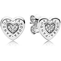 ear-rings woman jewellery Pandora Forever 297382cz