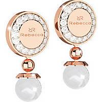 ear-rings woman jewellery Rebecca Boulevard Pearl BBPORR02