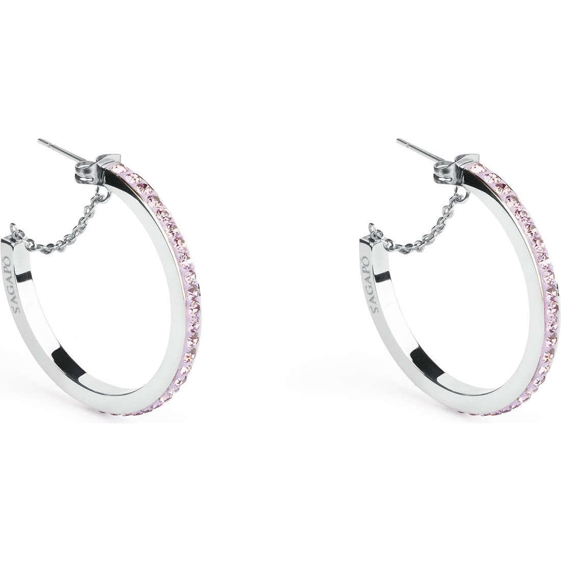 ear-rings woman jewellery Sagapò Crystal ring SCR25