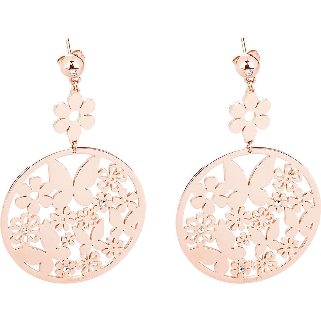 ear-rings woman jewellery Sagapò Flower SFL23