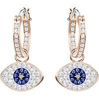 ear-rings woman jewellery Swarovski Duo Evil Eye 5425857