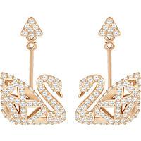 ear-rings woman jewellery Swarovski Facet Swan 5358058