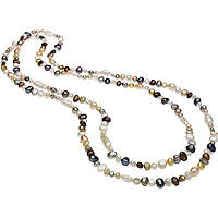 Halskette frau Schmuck Comete Fantasie di perle FWQ 249