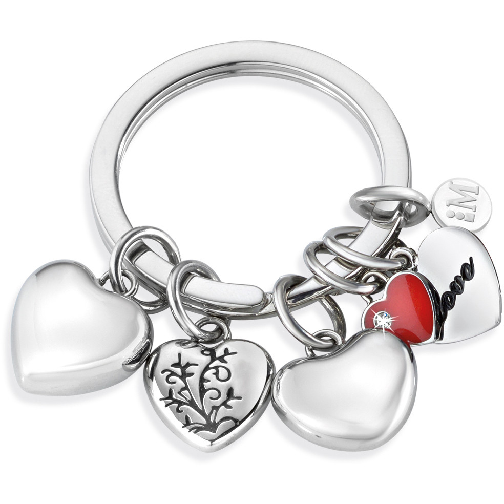 key-rings woman jewellery Morellato LOVE HEART CHARMS RED ENAMEL SD7132