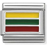 modulaire homme bijoux Nom.Composable Bandiere 330207/27