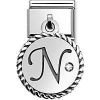 modulaire unisex bijoux Nom.Composable Lettere 031715/14