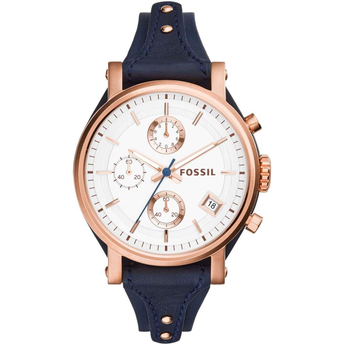 montre chronographe femme Fossil Perfect Boyfriend ES3838