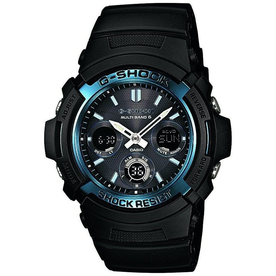 montre chronographe homme Casio G-Shock AWG-M100A-1AER