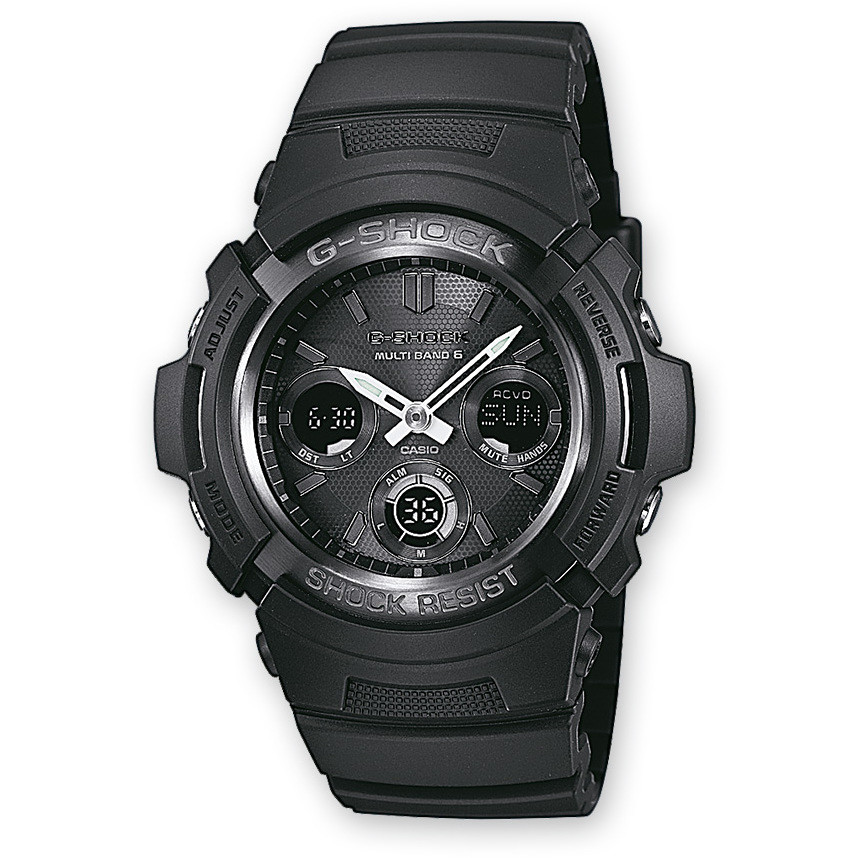 montre chronographe homme Casio G-Shock AWG-M100B-1AER