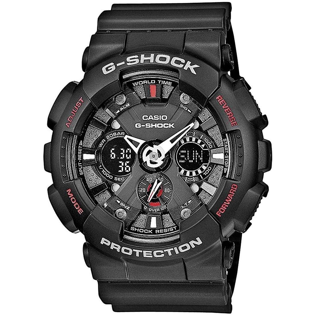 montre chronographe homme Casio G-SHOCK GA-120-1AER