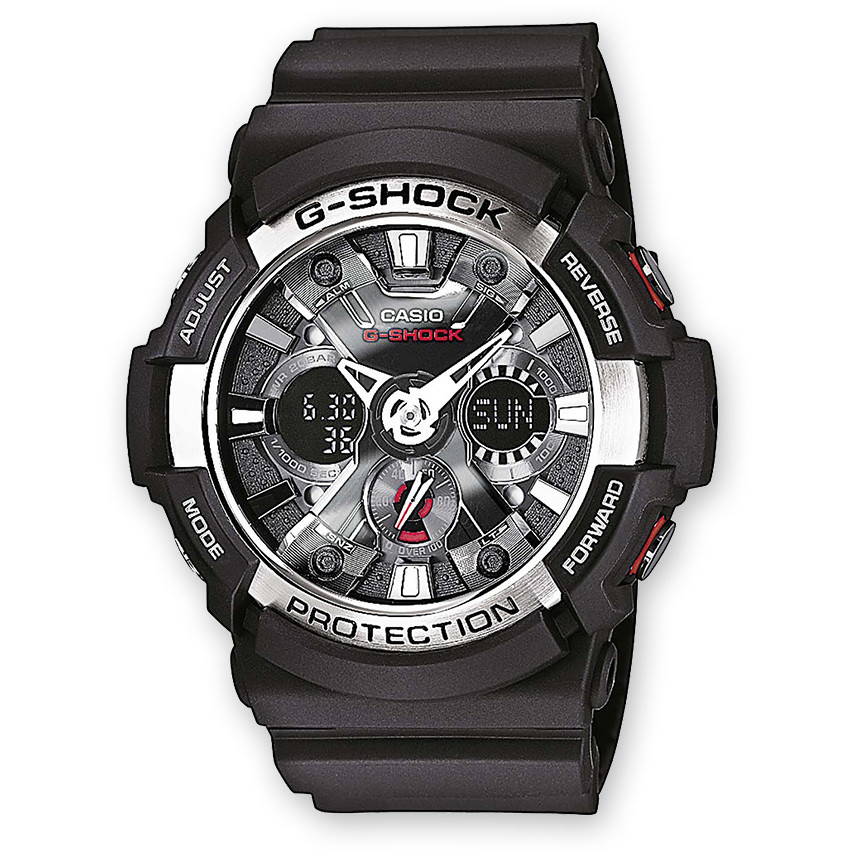 montre chronographe homme Casio G-SHOCK GA-200-1AER