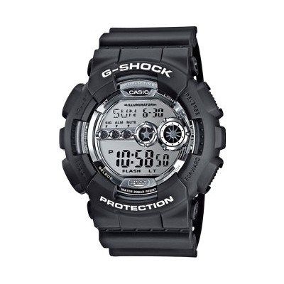 montre chronographe homme Casio G-SHOCK GD-100BW-1ER