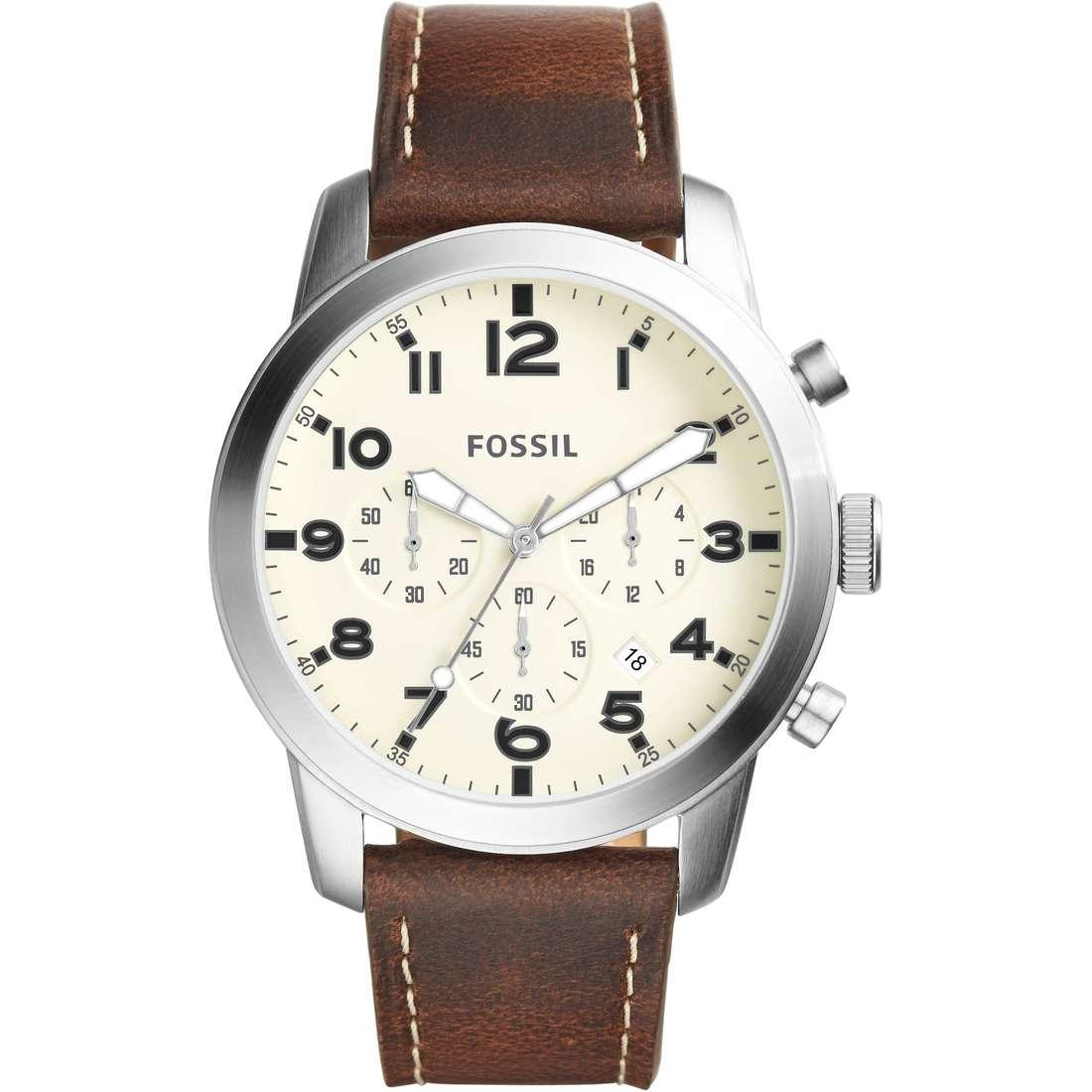 montre chronographe homme Fossil 54 Pilot FS5146