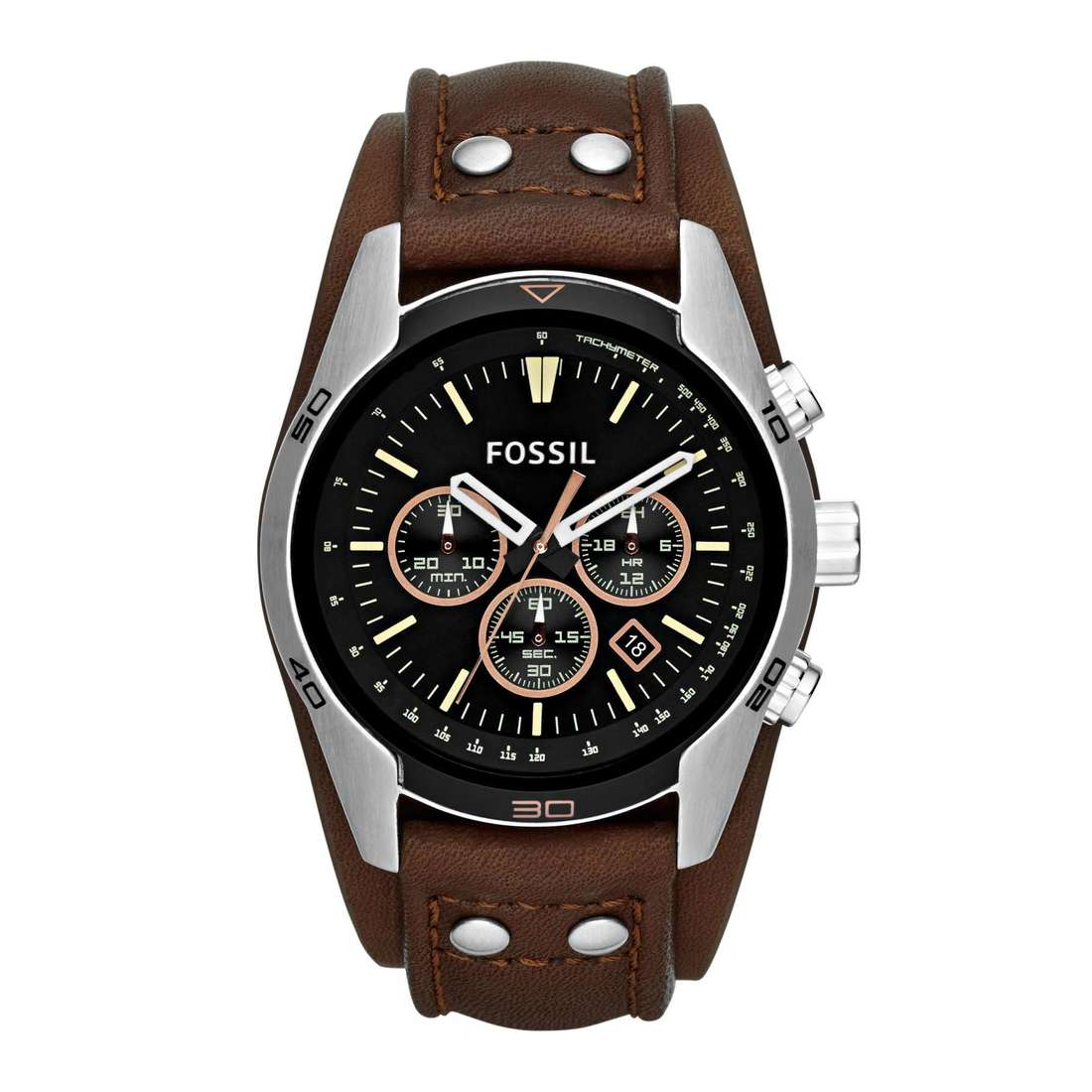 montre chronographe homme Fossil Coachman CH2891